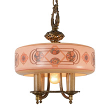 Lovely 5-Light Chandelier by Lightolier, C1928