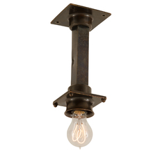 Elongated Bronze Subway Light c1915