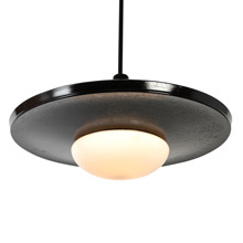 Unusual Semi-Indirect Black Modern Pendant, c1940