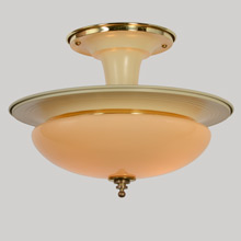 Sleek Dual-Tone Streamline Semi-Flush Fixture, C1940