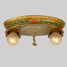 Stamped Brass Oval Pan W/Classical Motifs, C1925