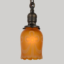 Sweet Chain Pendant w/ Satin Amber Shade C1915