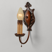 Pair of Historical Revival Acorn Sconces, c1925