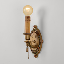 Pair of Revival-Style Candle Sconces, c1927