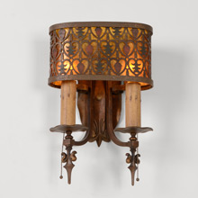 Pair of Rustic Historic Revival Cabin Sconces C1930