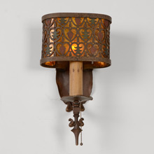 Rustic Historic Revival Cabin Sconce C1930