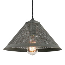 Perforated Metal Cone Pendant