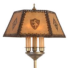 Impressive Heraldic Floor Lamp C1920s