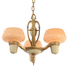 Lovely Cup Shade Chandelier by Markel, c1935