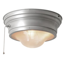 Industrial Flush Mount w/ Prismatic Lens And Pull-Chain by Perfeclite C1945