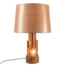 Mid Century Wood Lightning Bolt Table Lamp C1950s