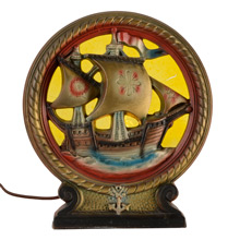 IAS Co Spanish Galleon Radio Lamp C1935