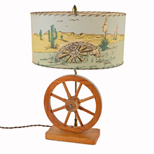 Mid Century Cowboy Table Lamp C1960s