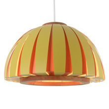 Vibrant Zoetrope Mod Dome by Lightolier C1966