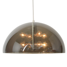 "23"" Mod Contemporary 5058 Smoke Acrylic Dome, Lightolier, C1972"