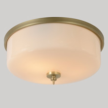 "15"" Pale Gilt Moderne Cakepan Light, C1935"