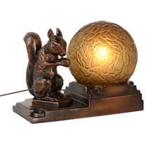 Squirrel and His Nut Radio Lamp C1935