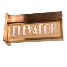 Late Deco Period Lighted Elevator Sign C1935
