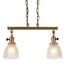 Classical Revival 2-Light Bar Pendent C1910