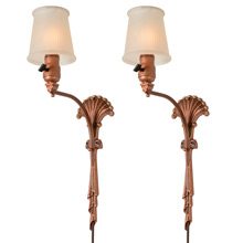Charming Pair of Romantic Drape-Lite Sconces C1935