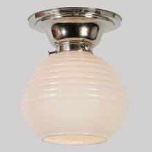 Classic Streamline Kitchen Light W/Opal Shade, C1938