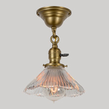 Beyond-Charming Semi-Flush fixture W/Franklin Shade, C1905