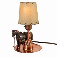 Petite Copper Cowboy Lamp C1930s