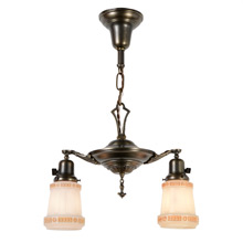 Petite Colonial Revival 2-Light Pan Fixture, C1925