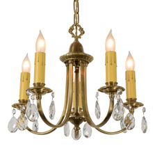 Sparkling And Elegant Colonial Revival Chandelier C1925