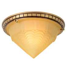 Art Deco Flush Mount Fixture C1930s
