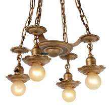 4-Light Hammered Chandelier by Art Kast C1923