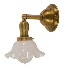 Classic Sconce w/ Milk Glass Shade C1910