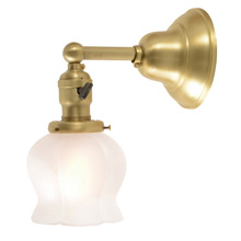 Simple and Beautiful Classical Wall Sconce w/ Petal Shade C1915