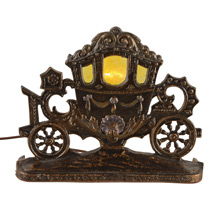 Cinderella's Carriage Radio Lamp C1930s