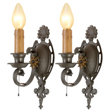 Pair Of Refined Revival Style Candle Sconces, C1925