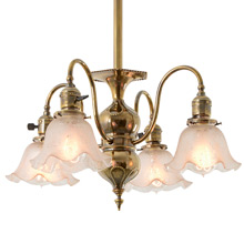 Eclectic Historic Revival 4-Light Chandelier C1905