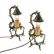 Pair of Cast Dolphin Figural Lamps C1920s
