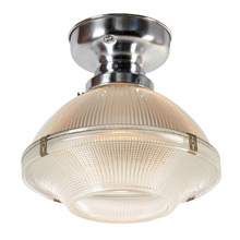 2-Piece Holophane Industrial Flush Fixture, C1930