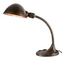 Original Finish Adjustable Cast Iron Desk Lamp, c1930