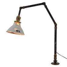 """Ajusco"" Articulated Industrial Desk Lamp w/Permaflector, c1925"