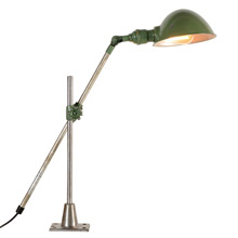 Industrial O.C. White Adjustable Wall or Desk Lamp C1950