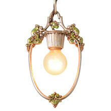Revival-Style Bare Bulb Hall Pendant By Riddle Co., C1925