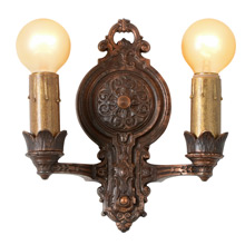 Pair Of Revival-Style Double Candle Sconces, C1925