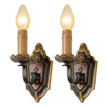 Pair Of Striking Classical Revival Wall Sconces, C1929