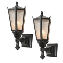 Pair of Classic Arts & Crafts Porch Sconces C1920