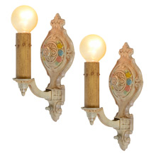 Pair of Revival-Style Candle Sconces, c1925