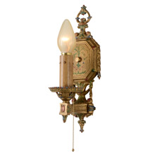Single Decorative Revival-Style Wall Sconce, C1925