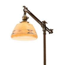 Romance Revival Bridge Lamp w/ Alabaster Accents c1925