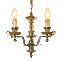 3-Light Colonial Revival Chandelier c1925