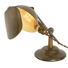 Lovely Patinated Lyhne Shaded Task Light c1912
